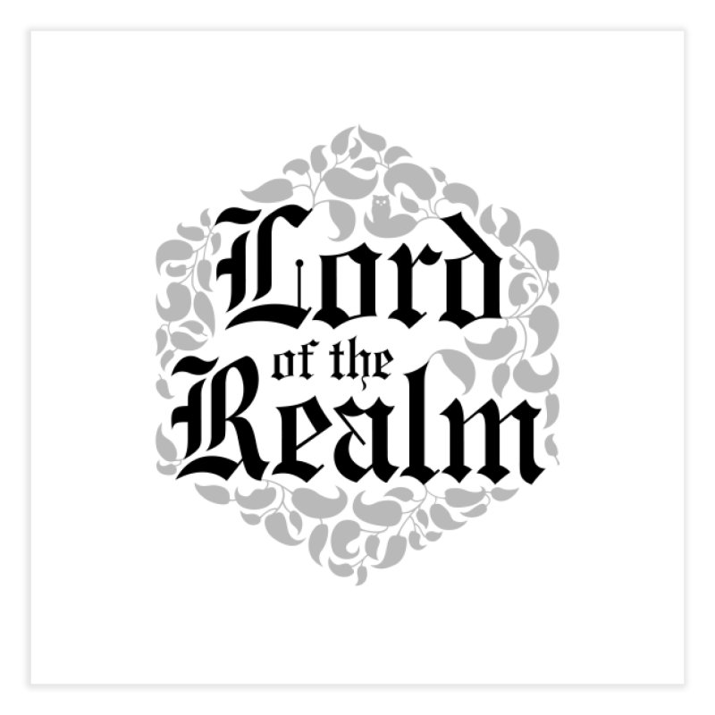 Lord of the Realm (black) Home Fine Art Print by Owl Basket