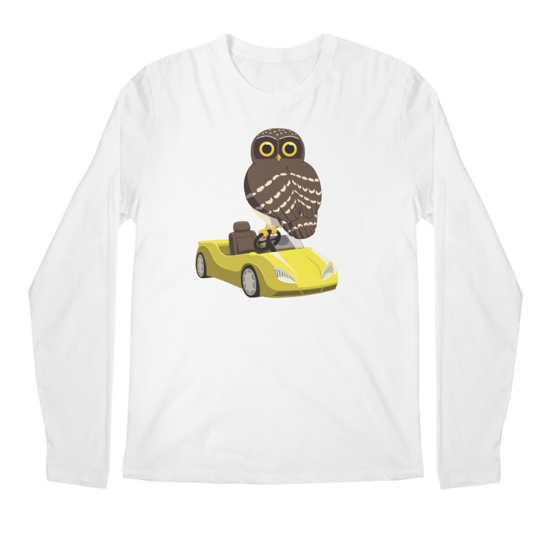 Driving Owl Men's Regular Longsleeve T-Shirt by Owl Basket