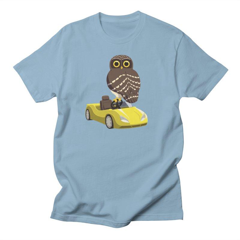 Driving Owl Women's Regular Unisex T-Shirt by Owl Basket