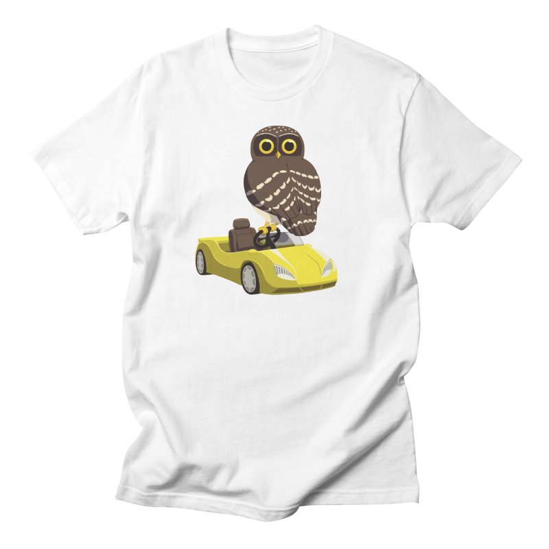 Driving Owl Men's Regular T-Shirt by Owl Basket