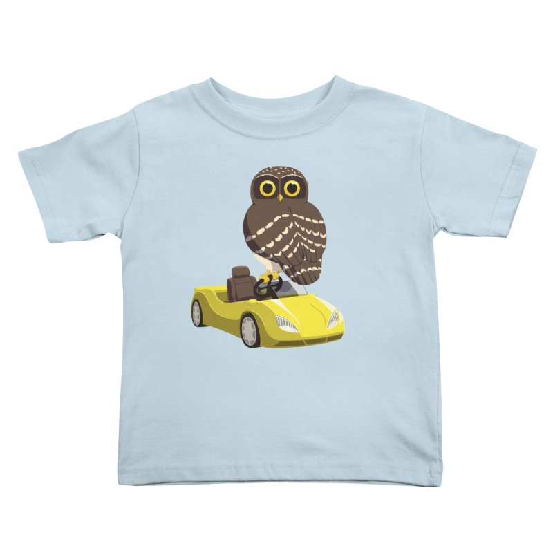 Driving Owl Kids Toddler T-Shirt by Owl Basket