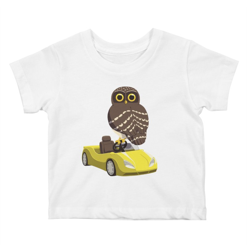 Driving Owl Kids Baby T-Shirt by Owl Basket