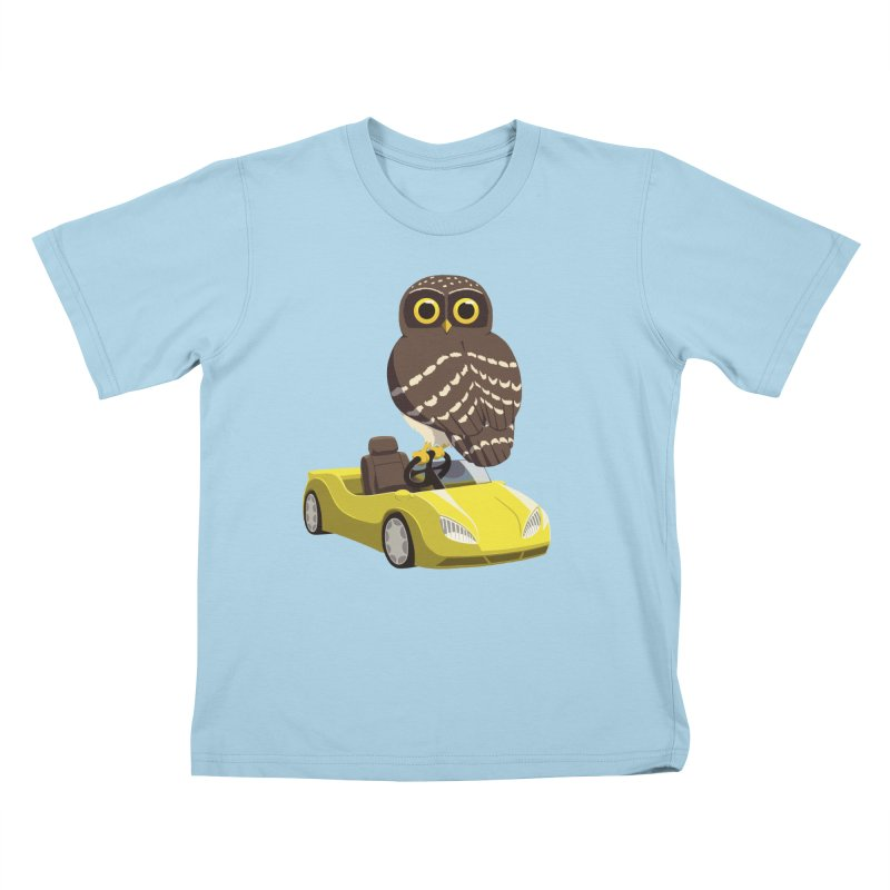 Driving Owl Kids T-Shirt by Owl Basket