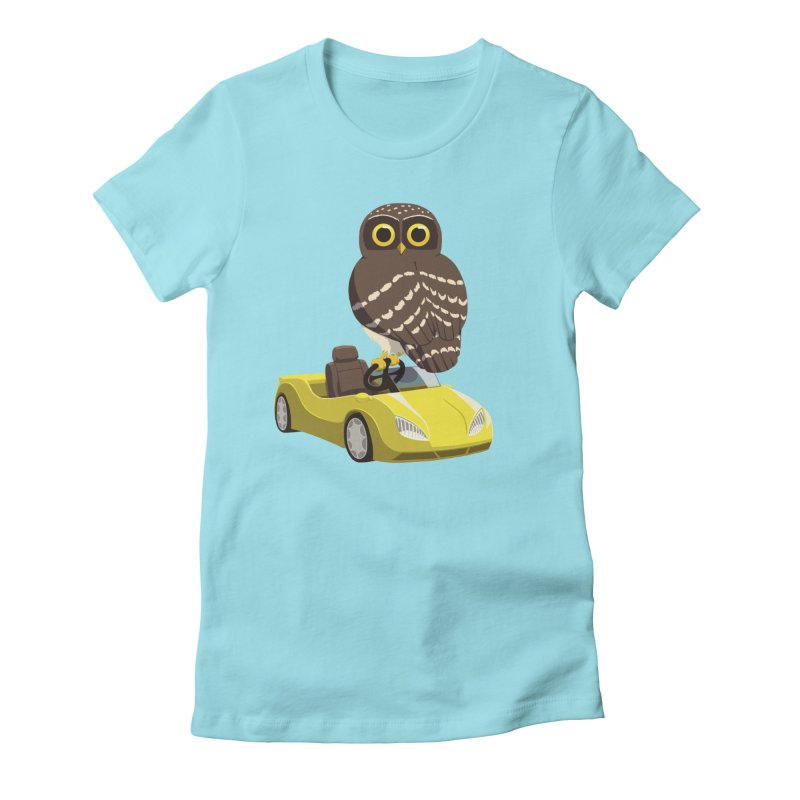 Driving Owl Women's Fitted T-Shirt by Owl Basket
