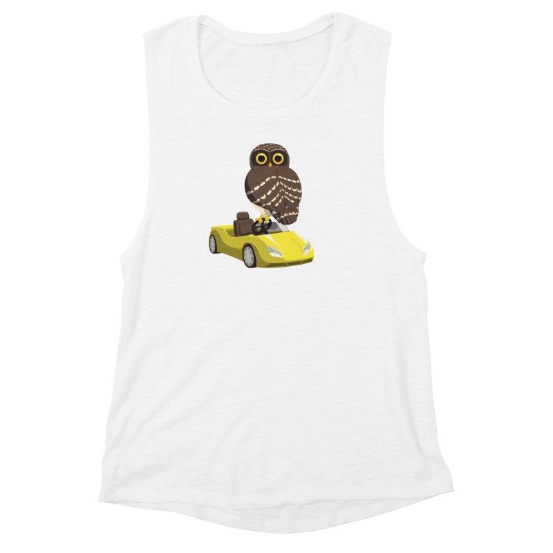 Driving Owl Women's Muscle Tank by Owl Basket