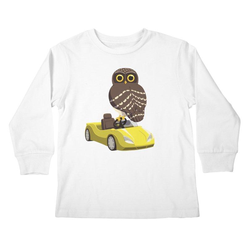 Driving Owl Kids Longsleeve T-Shirt by Owl Basket