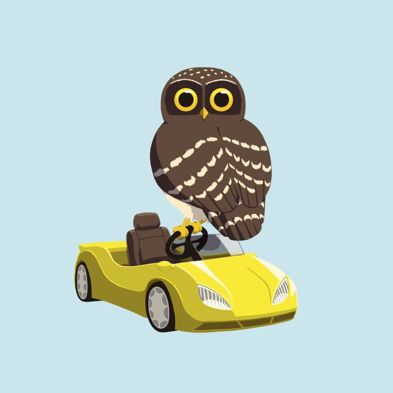 Driving Owl Kids Longsleeve T-Shirt by Owl Basket
