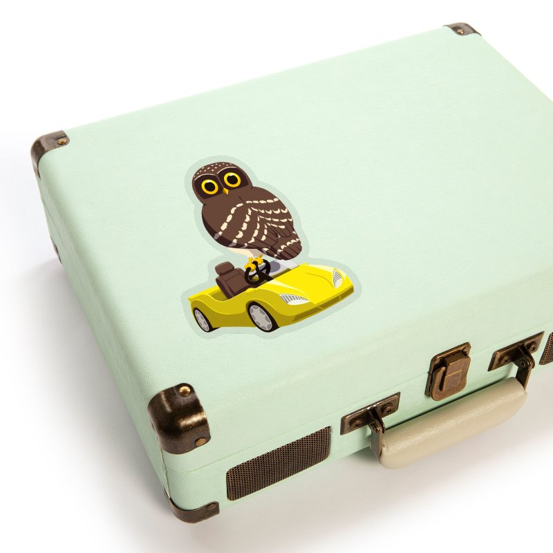 Driving Owl Accessories Sticker by Owl Basket