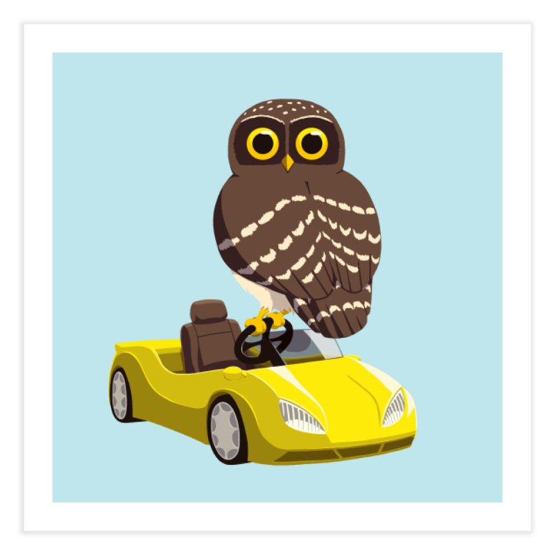 Driving Owl Home Fine Art Print by Owl Basket