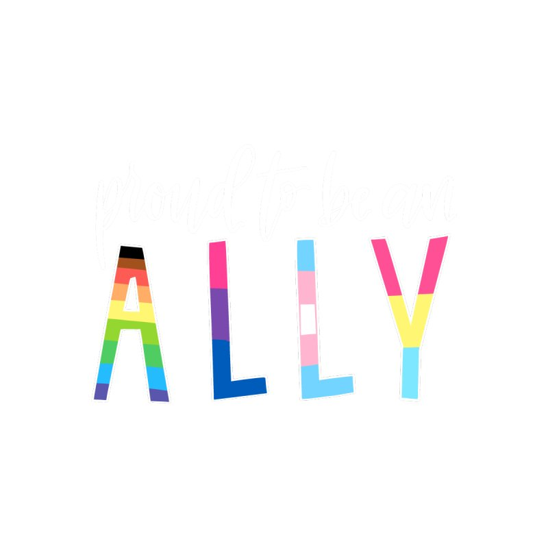 Ally Flag Tee by owlpostlettering's Artist Shop