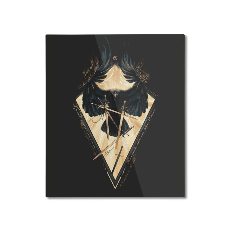 Game of Thrones Home Mounted Aluminum Print by Oxana Bayra's shop