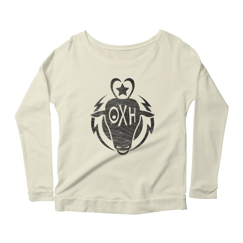 BULL SHIRT Women's Scoop Neck Longsleeve T-Shirt by OX SHOP