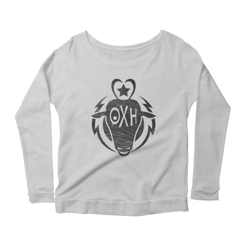 BULL SHIRT Women's Scoop Neck Longsleeve T-Shirt by OX SHOP