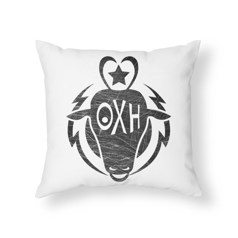 BULL SHIRT Home Throw Pillow by OX SHOP