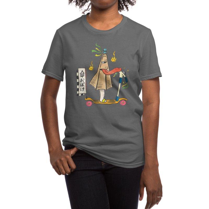 KasaObake on scooter Women's T-Shirt by Studio Yōkai