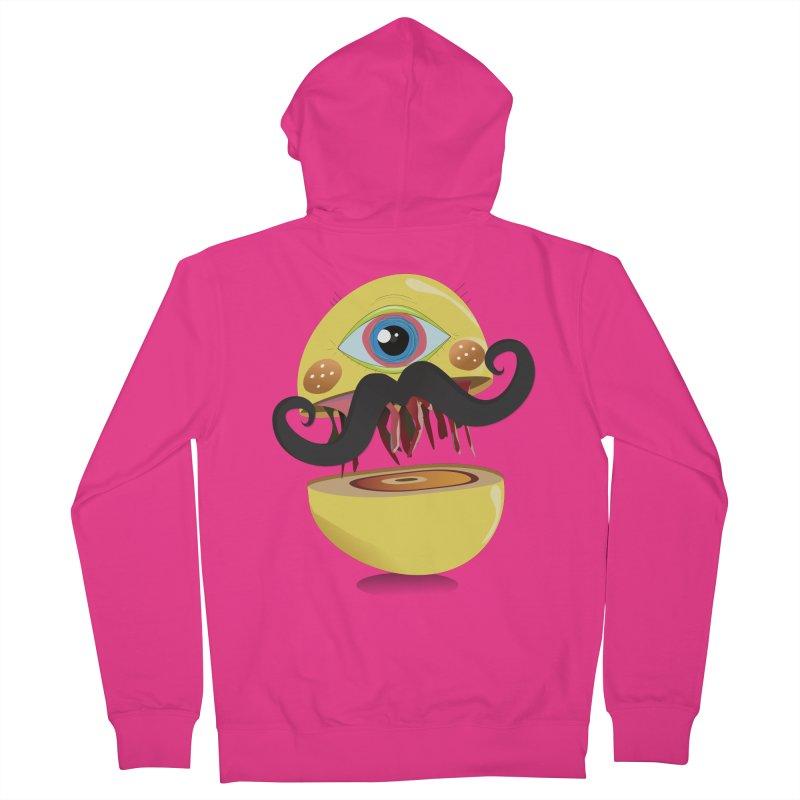 Burger Monsta Men's Zip-Up Hoody by P34K's shop