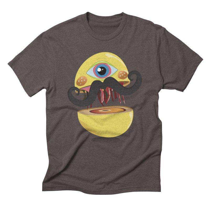 Burger Monsta Men's Triblend T-shirt by P34K's shop