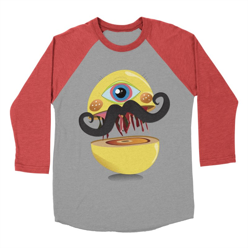 Burger Monsta Women's Baseball Triblend T-Shirt by P34K's shop