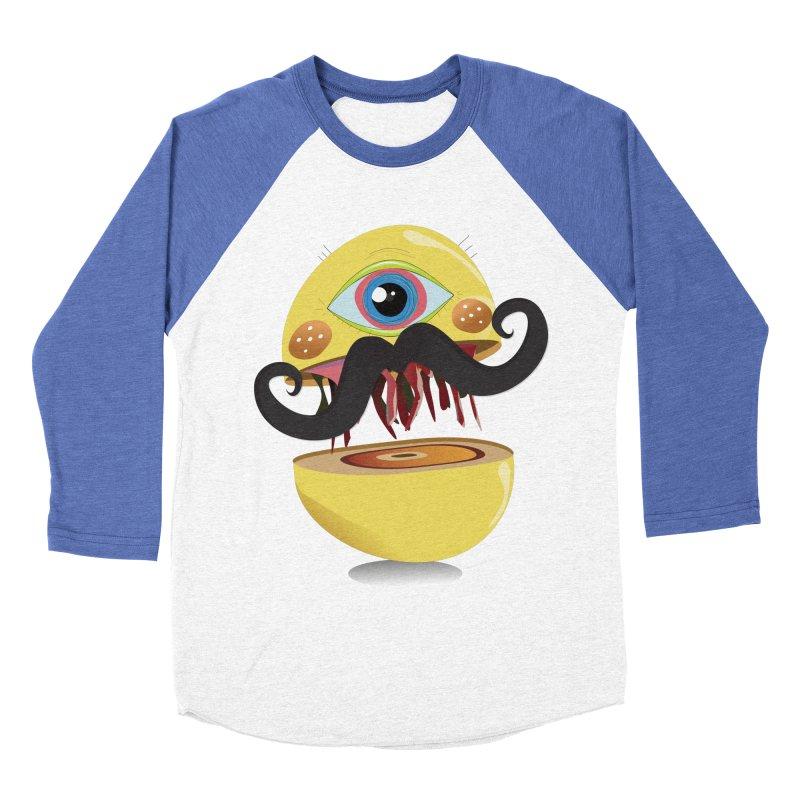 Burger Monsta Men's Baseball Triblend T-Shirt by P34K's shop