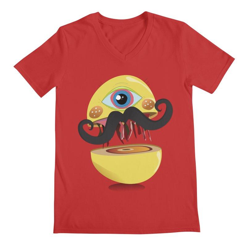 Burger Monsta Men's V-Neck by P34K's shop
