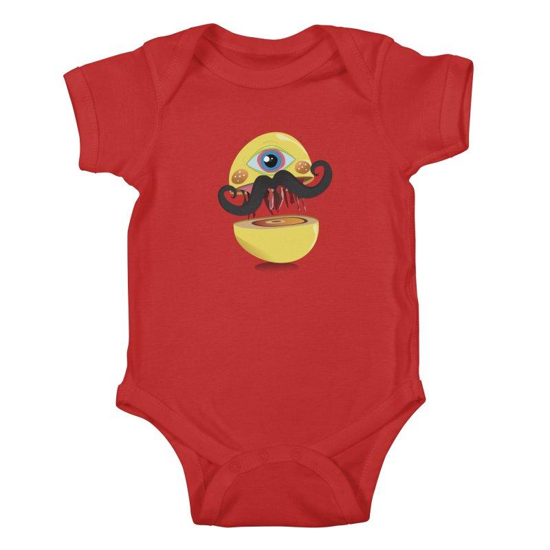 Burger Monsta Kids Baby Bodysuit by P34K's shop