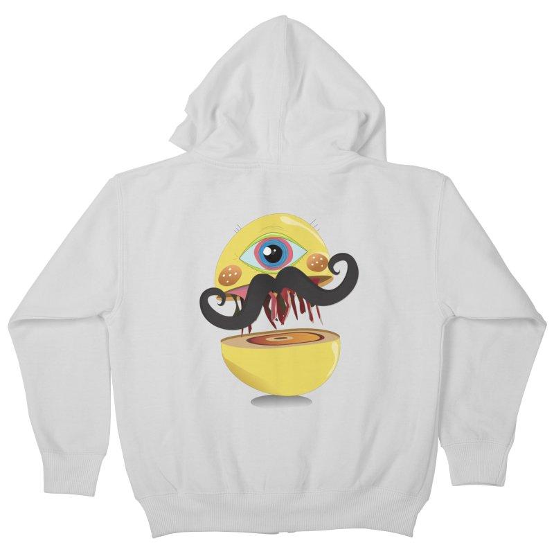 Burger Monsta Kids Zip-Up Hoody by P34K's shop