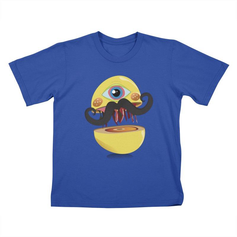 Burger Monsta Kids T-shirt by P34K's shop