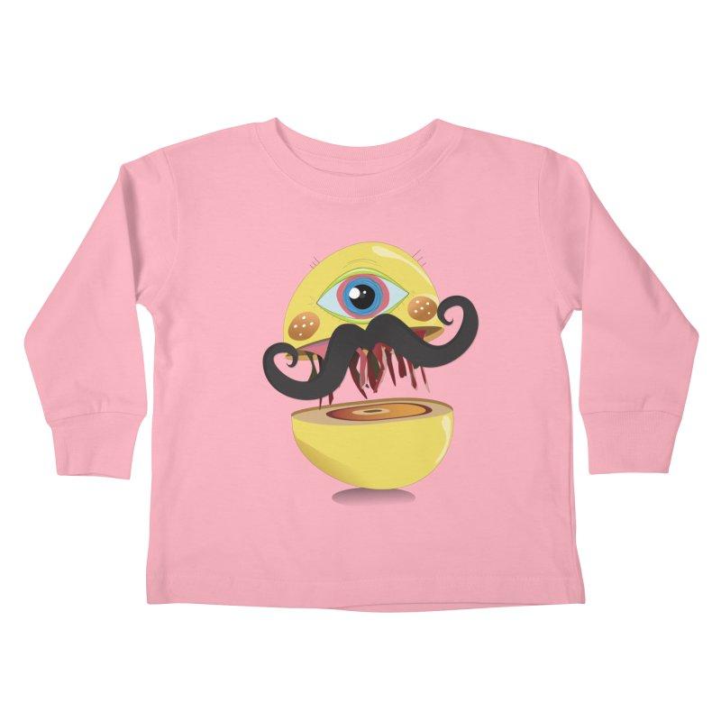 Burger Monsta Kids Toddler Longsleeve T-Shirt by P34K's shop