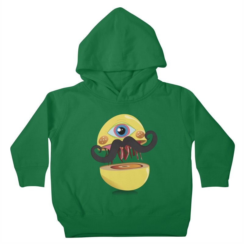 Burger Monsta Kids Toddler Pullover Hoody by P34K's shop