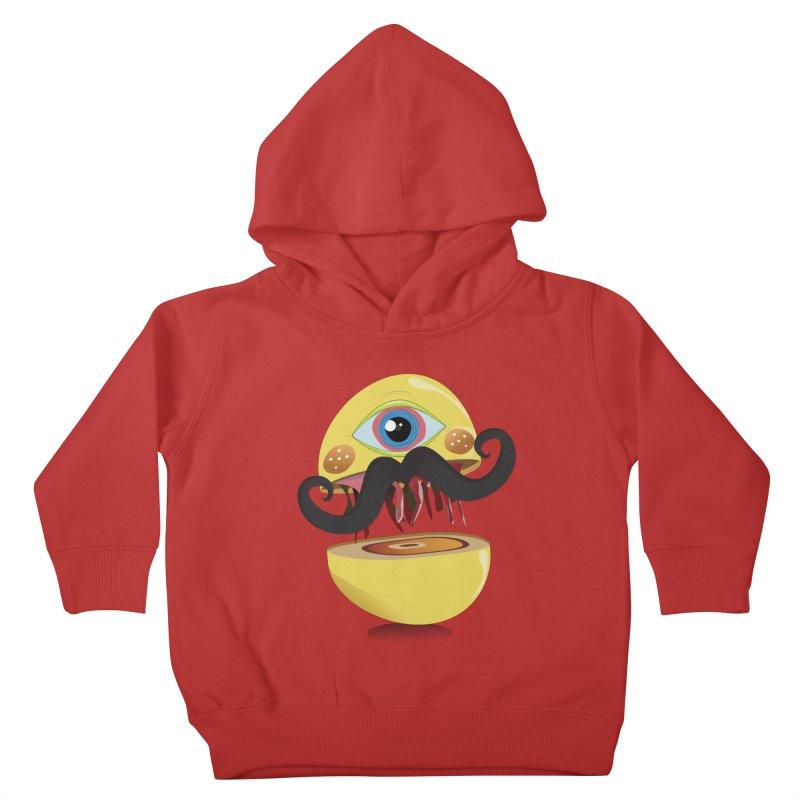 Burger Monsta Kids Toddler Pullover Hoody by P34K's shop