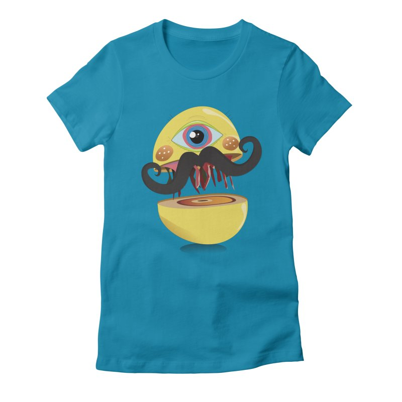 Burger Monsta Women's Fitted T-Shirt by P34K's shop