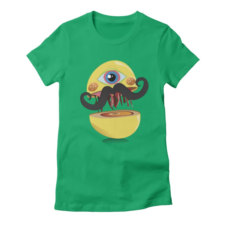 Burger Monsta Women's Fitted T-Shirt by P34K's shop