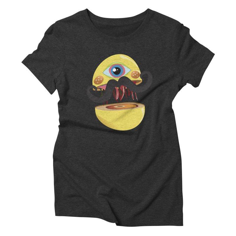 Burger Monsta Women's Triblend T-shirt by P34K's shop
