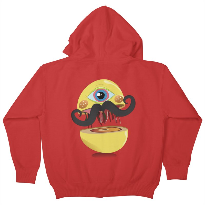 Burger Monsta Kids Zip-Up Hoody by P34K's shop