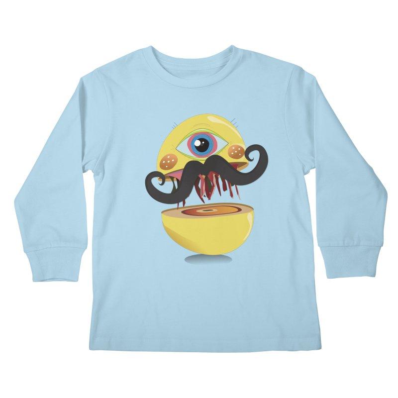 Burger Monsta Kids Longsleeve T-Shirt by P34K's shop