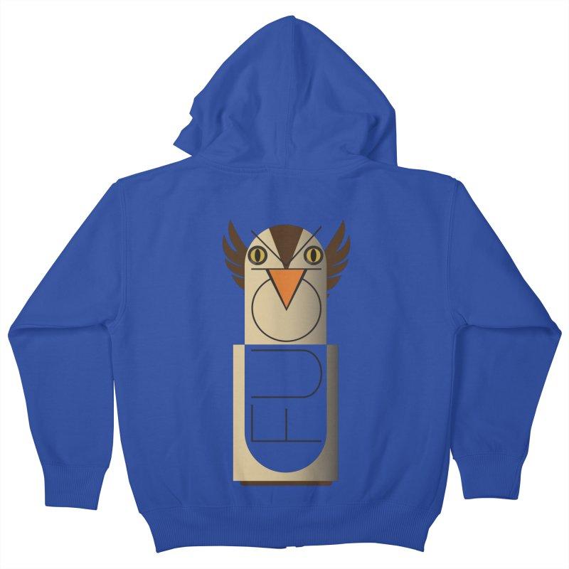 Fckin' Bird Kids Zip-Up Hoody by P34K's shop