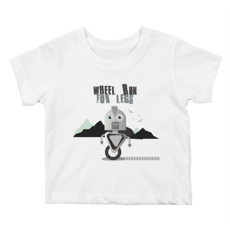 Wheel work for legs Kids Baby T-Shirt by P34K's shop