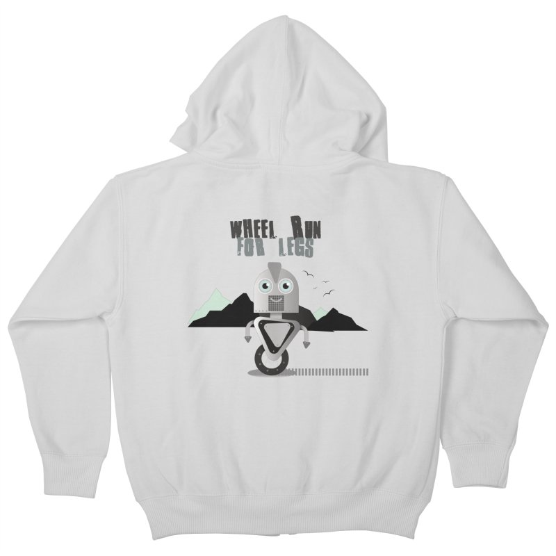 Wheel work for legs Kids Zip-Up Hoody by P34K's shop