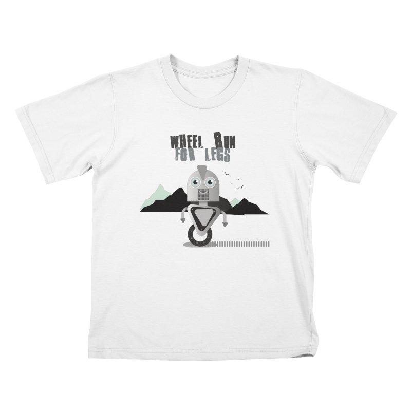 Wheel work for legs Kids T-Shirt by P34K's shop