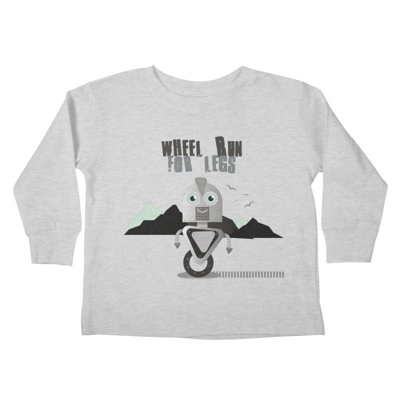 Wheel work for legs Kids Toddler Longsleeve T-Shirt by P34K's shop