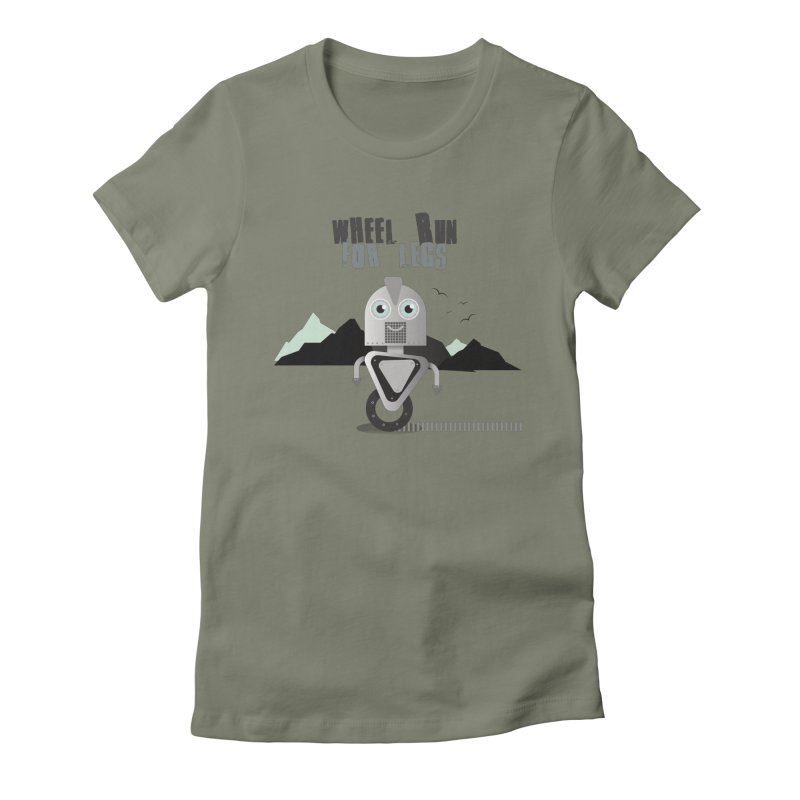 Wheel work for legs Women's Fitted T-Shirt by P34K's shop