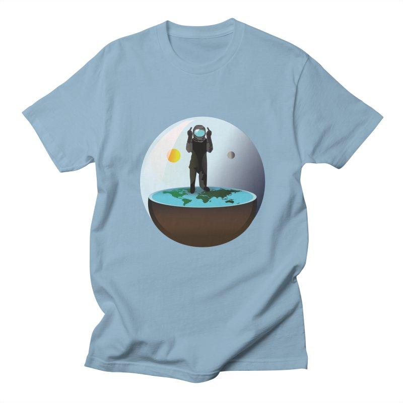 Flat World Men's T-Shirt by P34K's shop