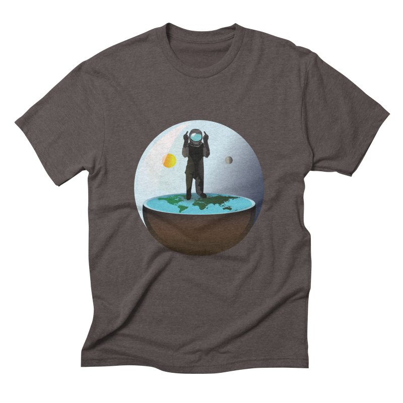 Flat World Men's Triblend T-Shirt by P34K's shop