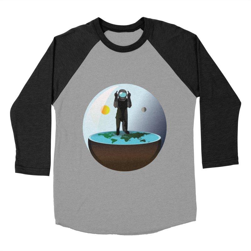 Flat World Women's Baseball Triblend T-Shirt by P34K's shop