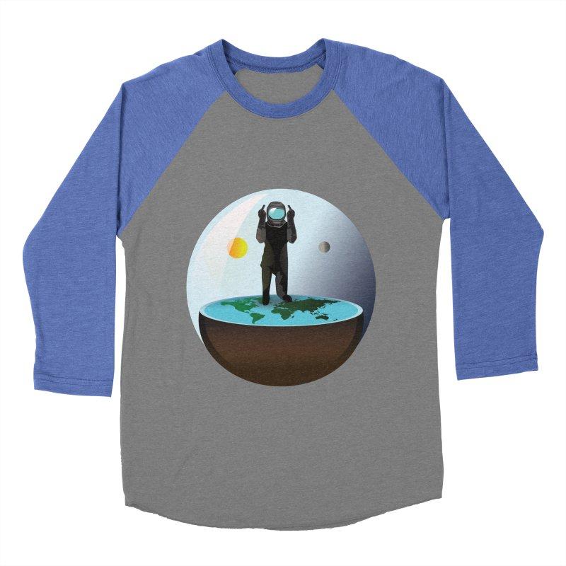 Flat World Men's Baseball Triblend T-Shirt by P34K's shop