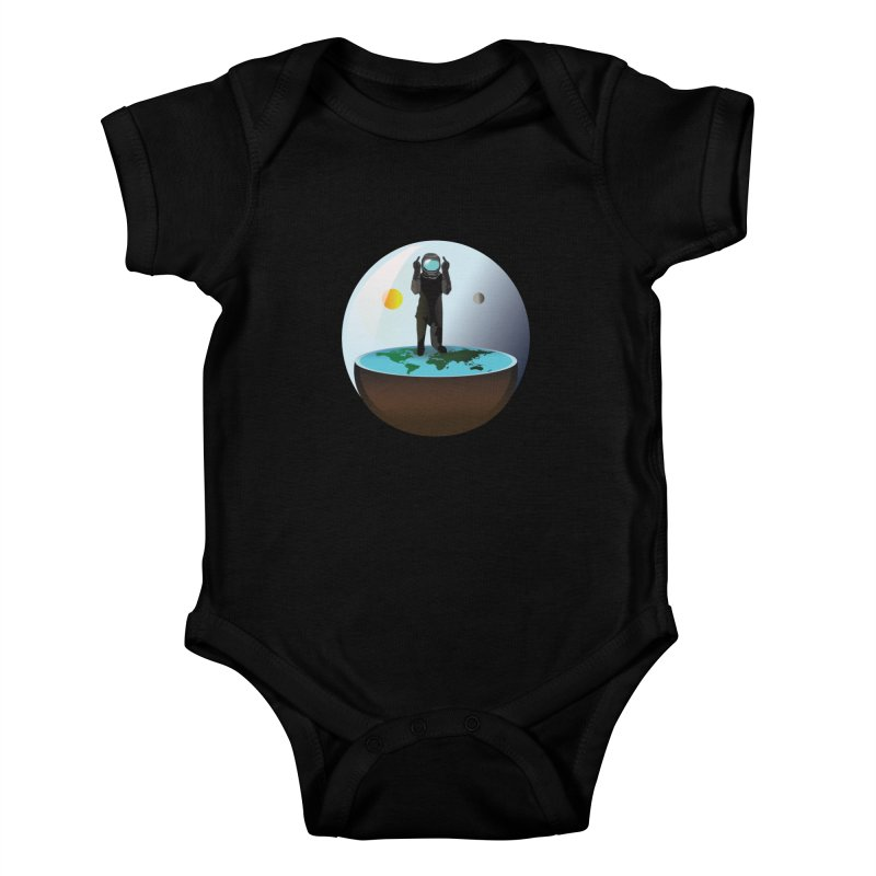 Flat World Kids Baby Bodysuit by P34K's shop