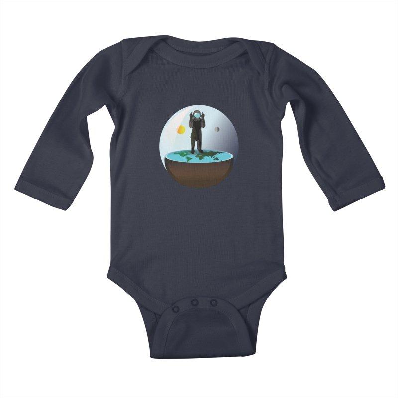 Flat World Kids Baby Longsleeve Bodysuit by P34K's shop