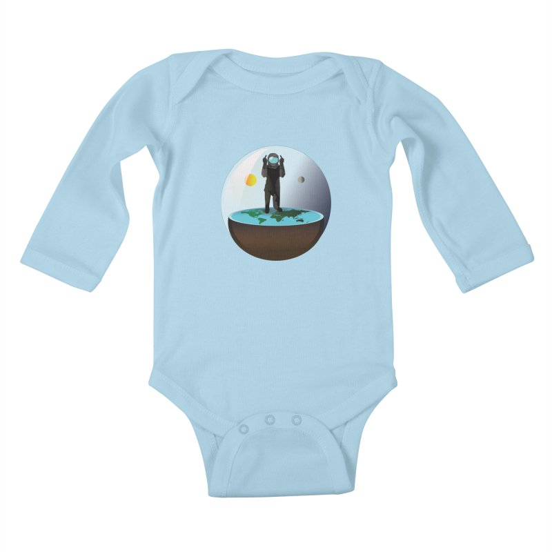 Flat World Kids Baby Longsleeve Bodysuit by P34K's shop
