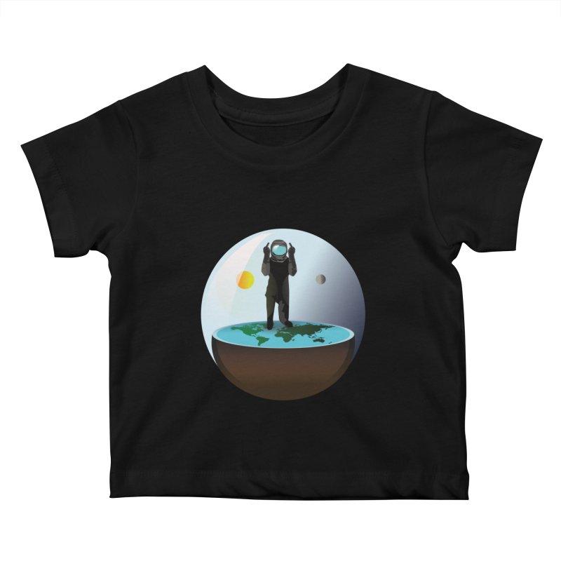 Flat World Kids Baby T-Shirt by P34K's shop