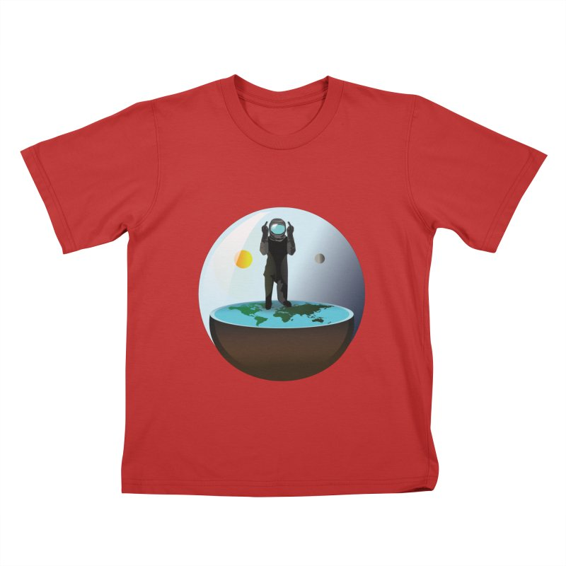 Flat World Kids T-Shirt by P34K's shop